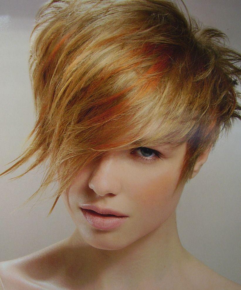 Blond ou cuivr court ou long - Coupe courte couleur cuivre ...